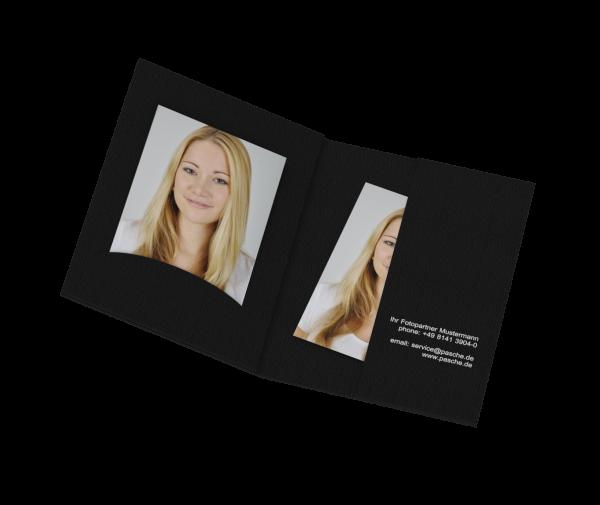 Portraitmappe für Bilder bis 6x9cm Folienprägung