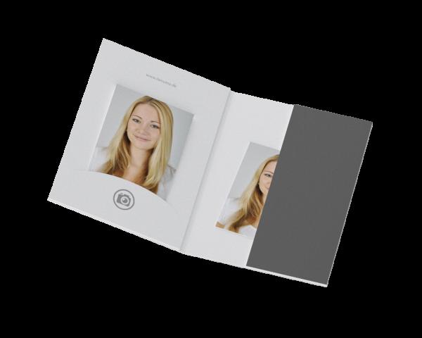 Passbildmappe mit Einsteckschlitz Offsetdruck