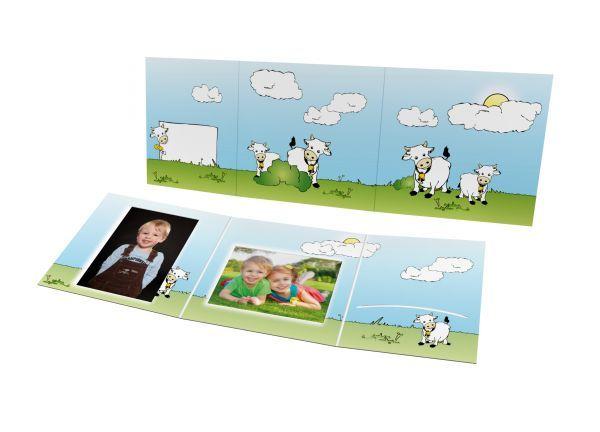 Schul- und Kindergartenmappe - Motiv Kühe
