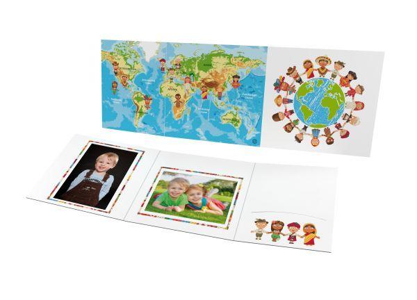 Schul- und Kindergartenmappe - Motiv One World