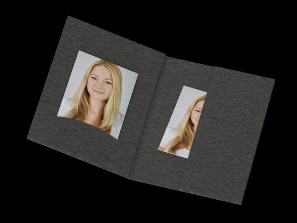 Passbildmappe mit Einsteckschlitz Lagerware