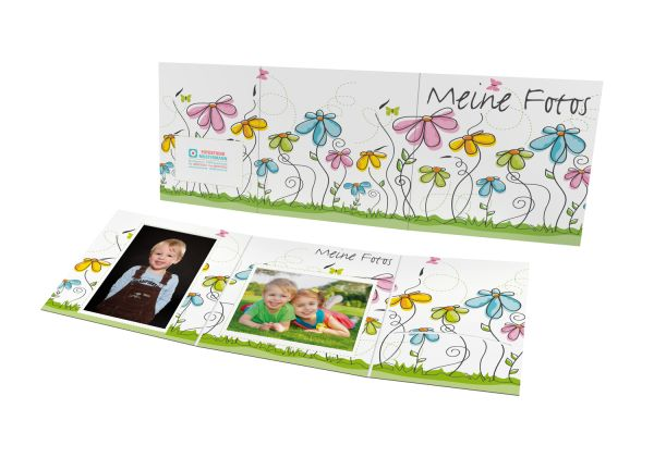 Schul- und Kindergartenmappe - Motiv Blumen