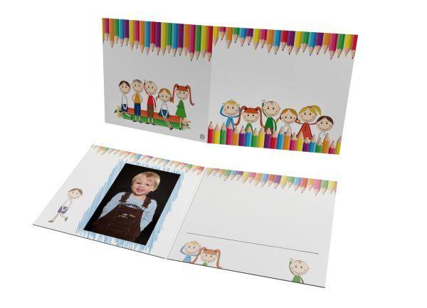 Schul- und Kindergartenmappe - Motiv Buntstifte