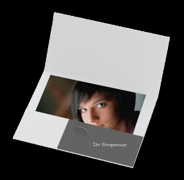 Portraitmappe geklebt für Bilder bis 15x20cm Offsetdruck