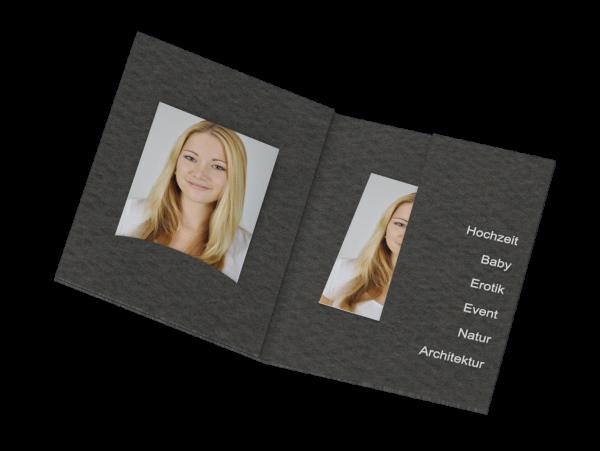 Passbildmappe mit Einsteckschlitz Folienprägung