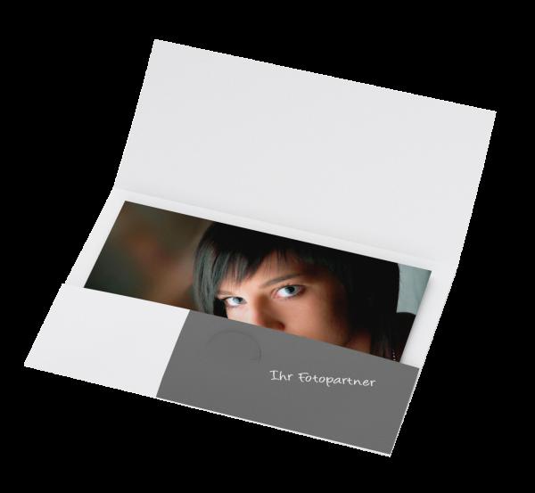 Portraitmappe für Bilder bis 20x30cm Offsetdruck