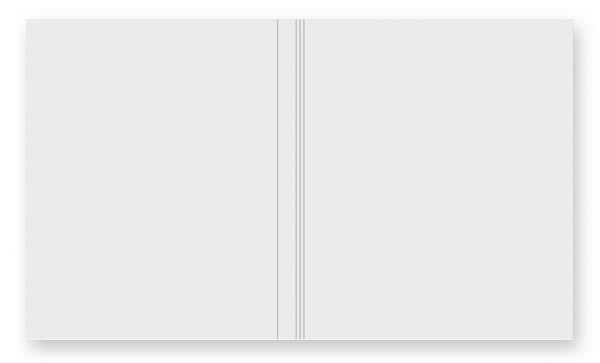 Softcover für Passepartoutblock durchgefärbter Karton Weiß