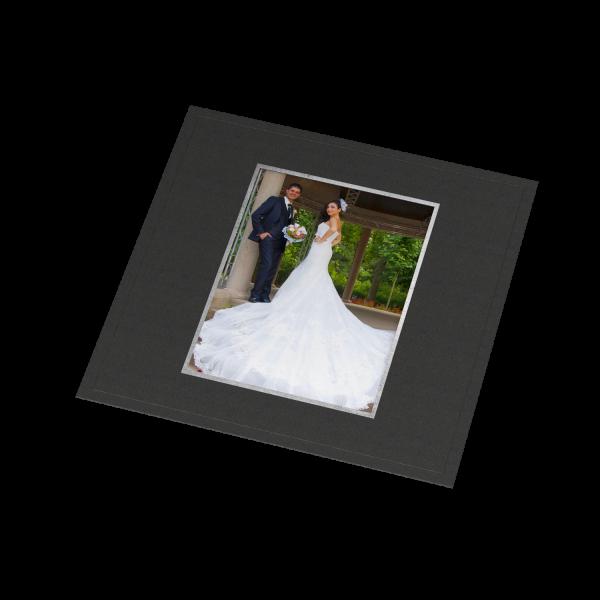 Albenmaske klein - Rahmen Silberfolienprägung für 13 x 18 cm Bilder