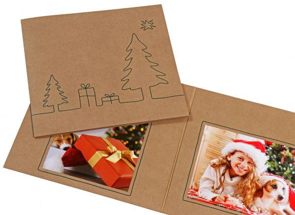 Weihnachtsmappe - 3-teilig, für 13x18 Bilder