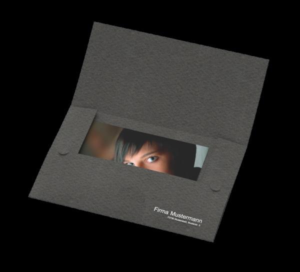 Portraitmappe (3 Klappen) für Bilder bis 15 x 20 cm Folienprägung