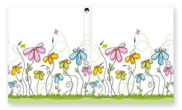 Softcover für Passepartoutblock Motiv: Blumen