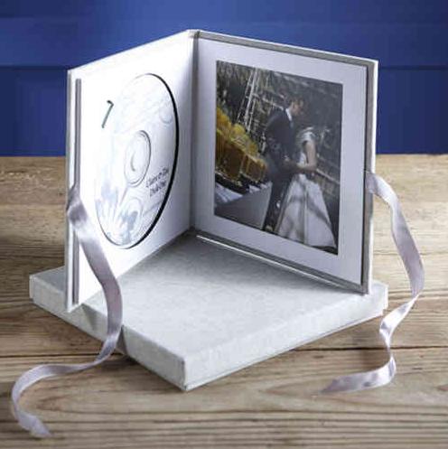 DVD Case Leinen, mit Passepartout f.Print 13x13cm