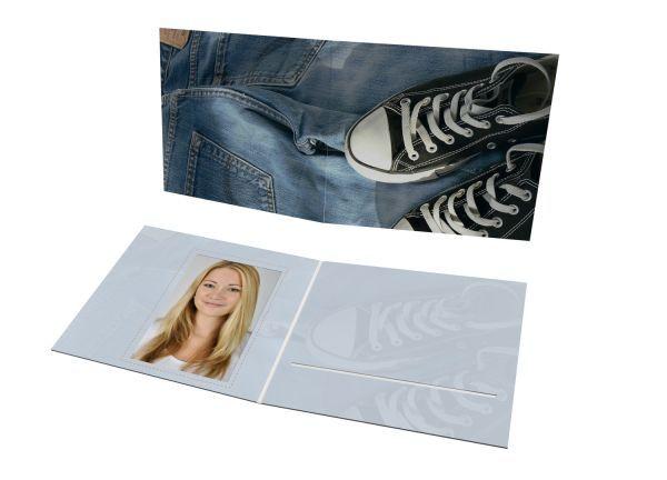 Schul- und Kindergartenmappe - Motiv Jeans & Shoes