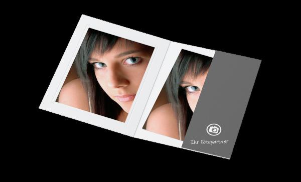 Portraitmappe für 13x18cm Bilder Offsetdruck