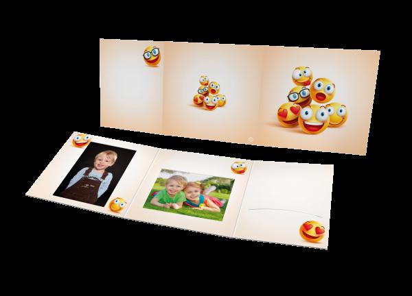 Schul- und Kindergartenmappe - Motiv Emoticons