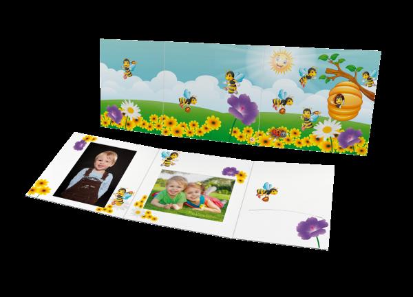 Schul- und Kindergartenmappe - Motiv Bienen