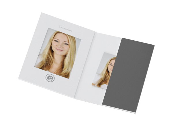 Passbildmappe mit Bildauschnitt 35x50mm Offsetdruck