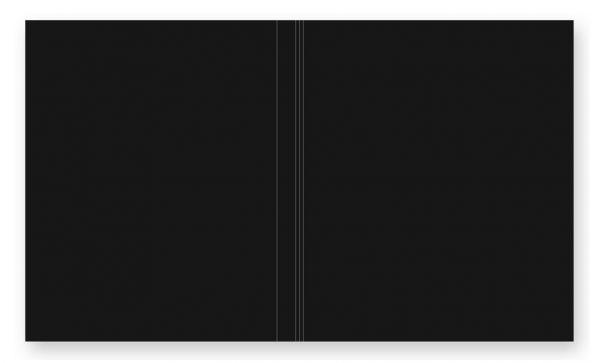 Softcover für Passepartoutblock durchgefärbter Karton Schwarz
