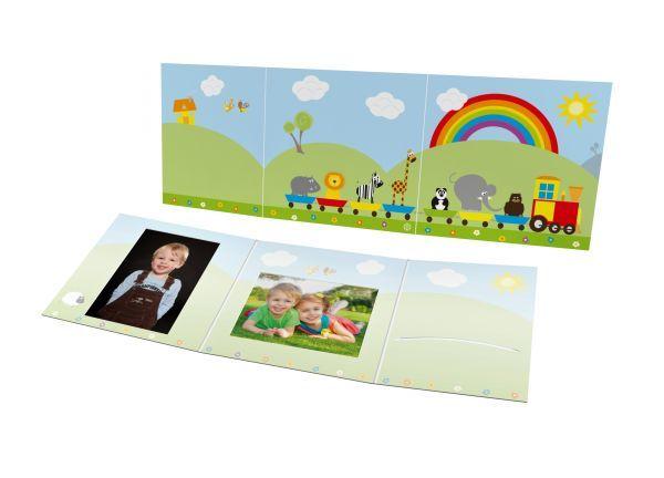 Schul- und Kindergartenmappe - Motiv Eisenbahn