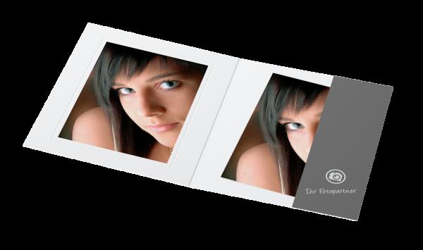 Portraitmappe für 15x20cm Bilder Offsetdruck
