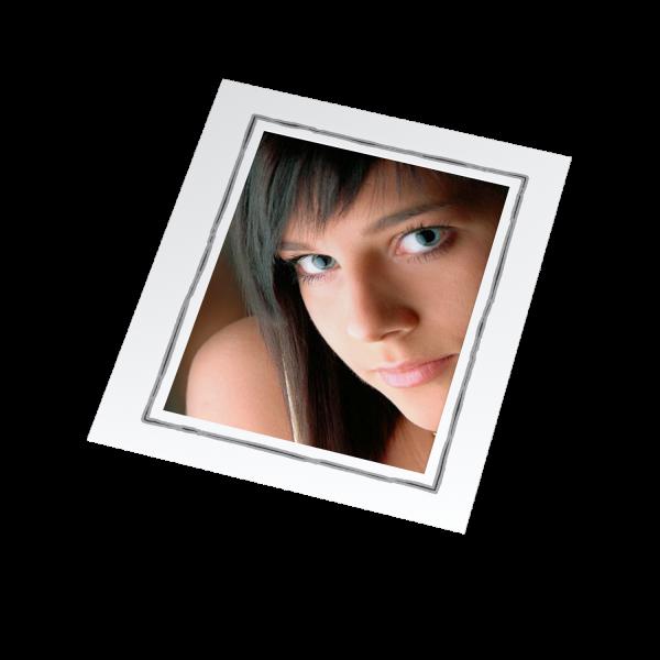 Einzelmaske Rahmen Offsetdruck grau/schwarz