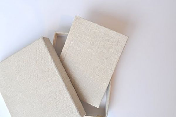 Handtaschen Album, Leinen, 9x13 , Peel&Stick, mit passender Box, Farben: Oatmeal und Storm