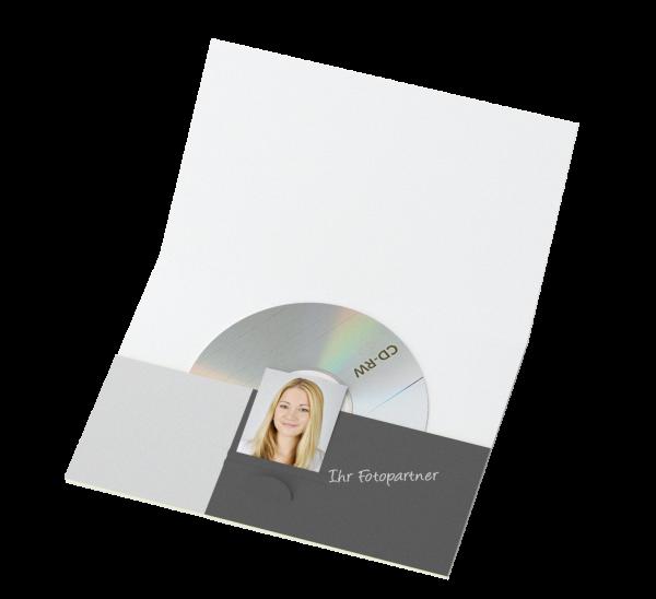 Portraitmappe für CDs und für Bilder bis 10x15cm Offsetdruck