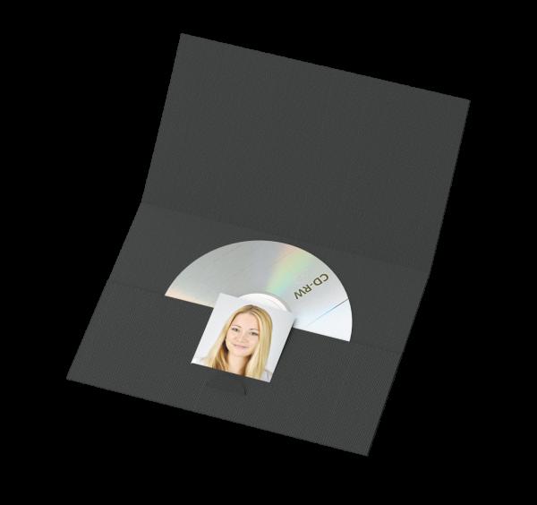 Portraitmappe für CDs und für Bilder bis 10x15cm Lagerware