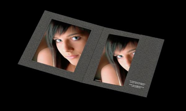 Portraitmappe für 15x20cm Bilder Folienprägung