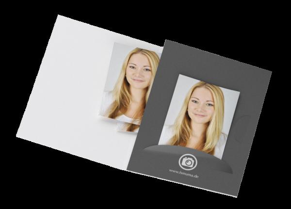 Passbildmappe mit Einsteckschlitz Digitaldruck
