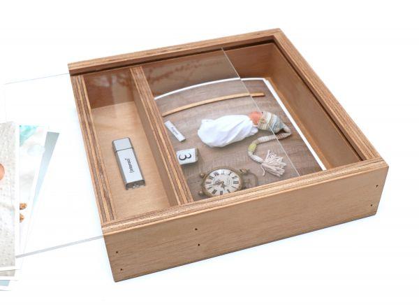 USB Holzbox für Prints 13x19