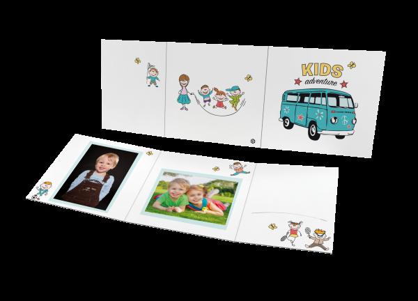 Schul- und Kindergartenmappe - Motiv Schulbus