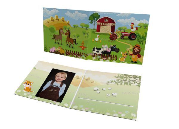 Schul- und Kindergartenmappe - Motiv Bauernhof