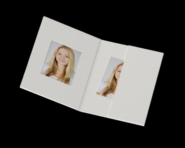 Passbildmappe für 35x45mm Bilder Lagerware