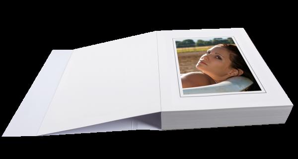 Passepartoutblock für 13x18cm Bilder einseitig Lagerware
