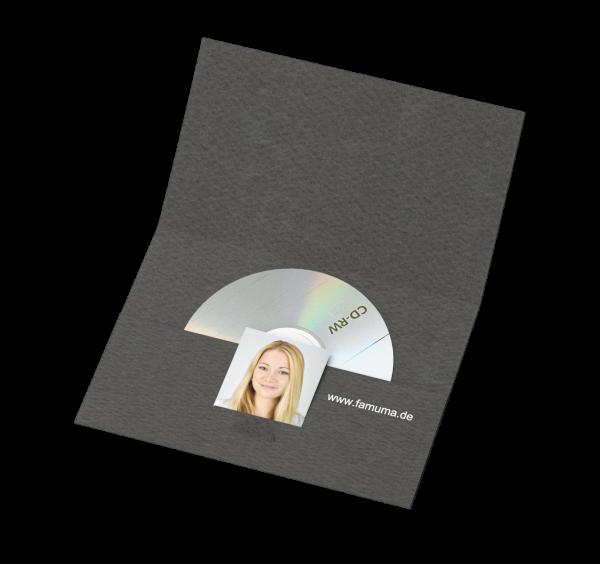 Portraitmappe für CDs und für Bilder bis 10x15cm Folienprägung