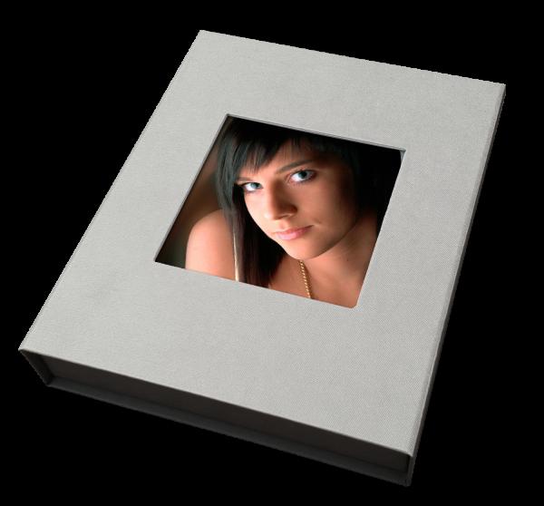 Portraitbox mit Magetverschluß für 20 x 24 cm Passepartouts