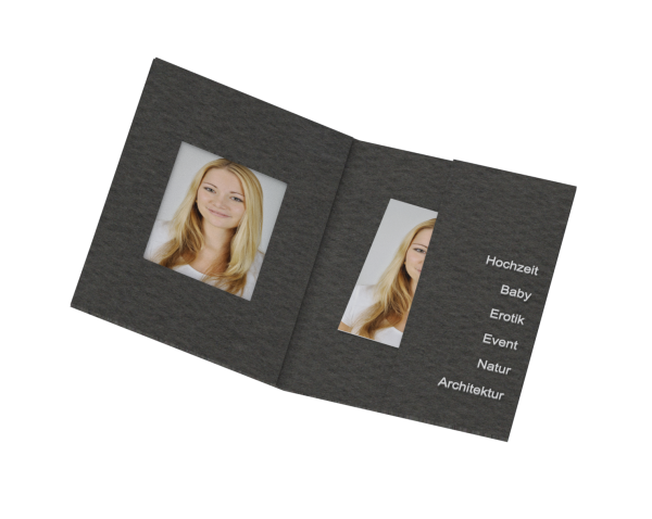 Passbildmappe für 35x45mm Bilder Folienprägung
