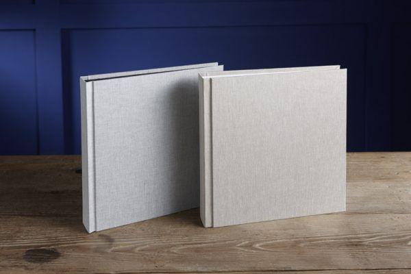 Love Leinen Peel & Stick Album 20x20 cm, Seiten selbstklebend ausgestattet