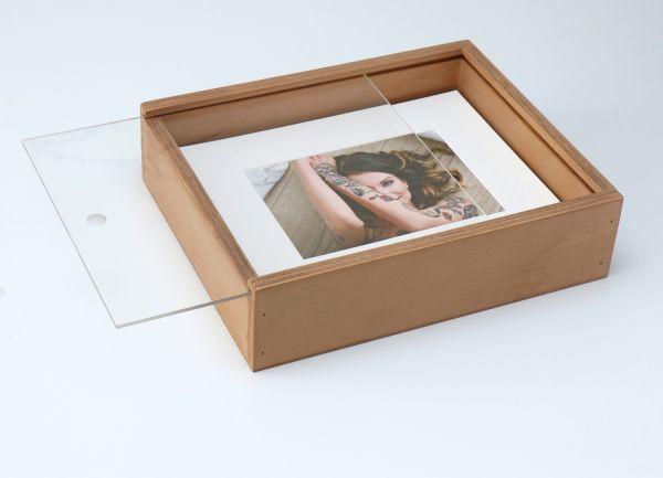 Holzbox 20x25cm f. Prints und Passepartout